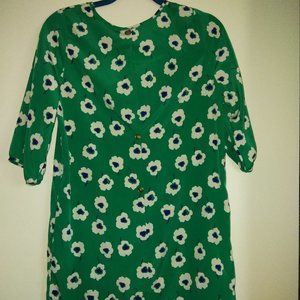 5th Culture Green Dress with Flowers
